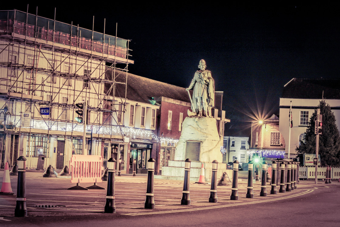 """""""King Alfred The Great, Wantage, 2020"""" stock image"""