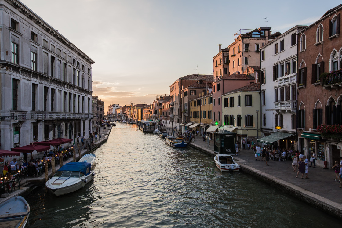 """""""Sunset at Ponte delle Guglie"""" stock image"""