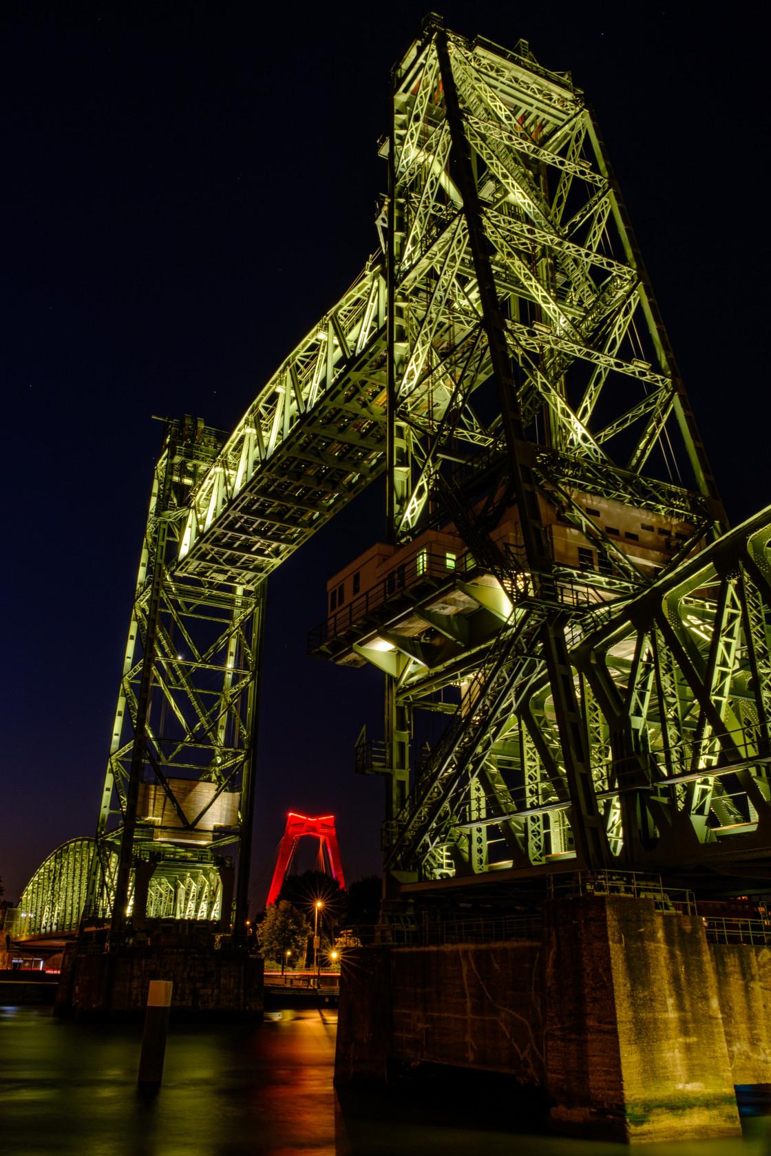 """Rotterdam by Night"" stock image"