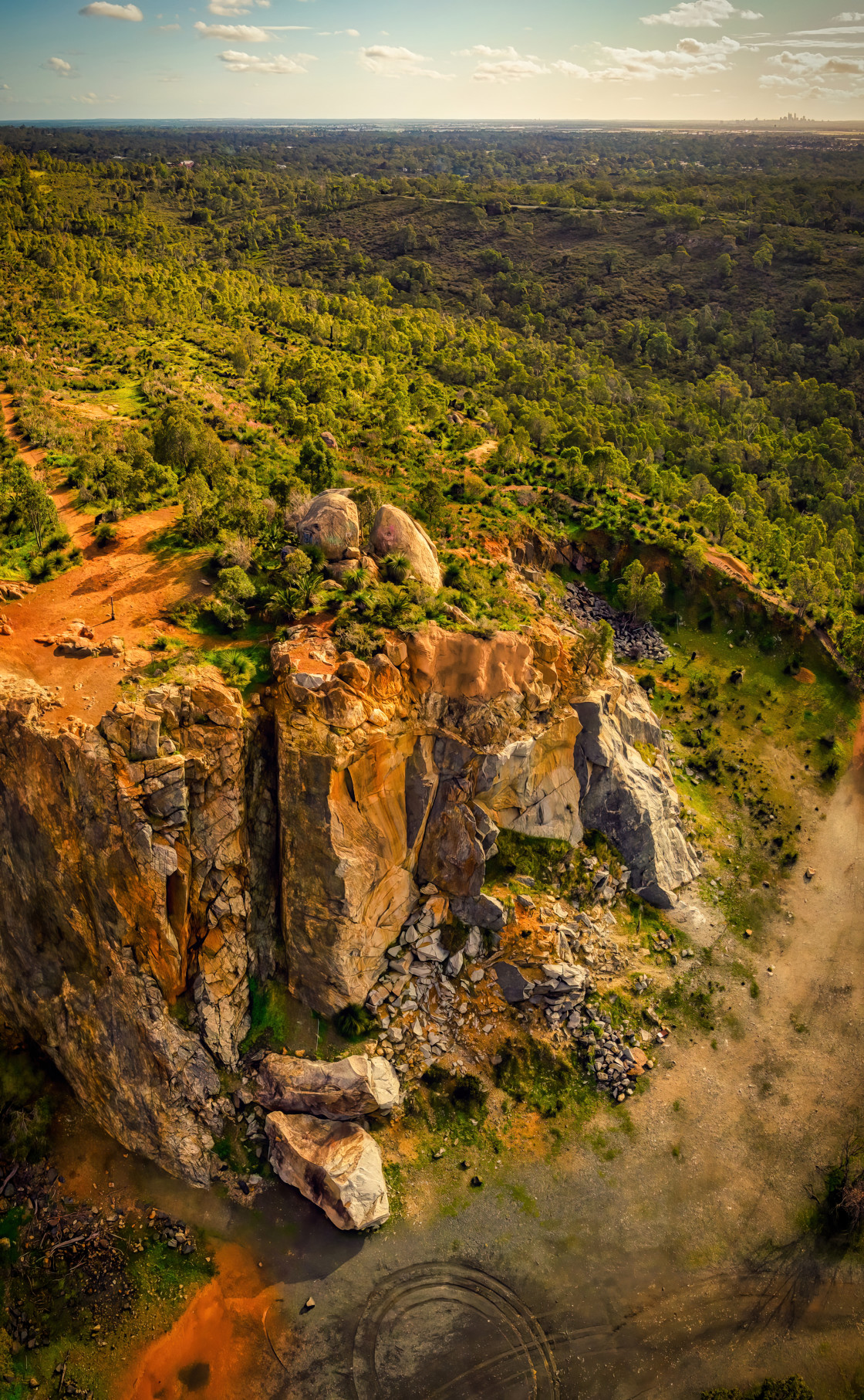 """""""Stathams Quarry Aerial"""" stock image"""