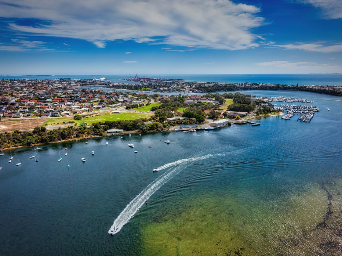 """""""Bicton Water midday"""" stock image"""