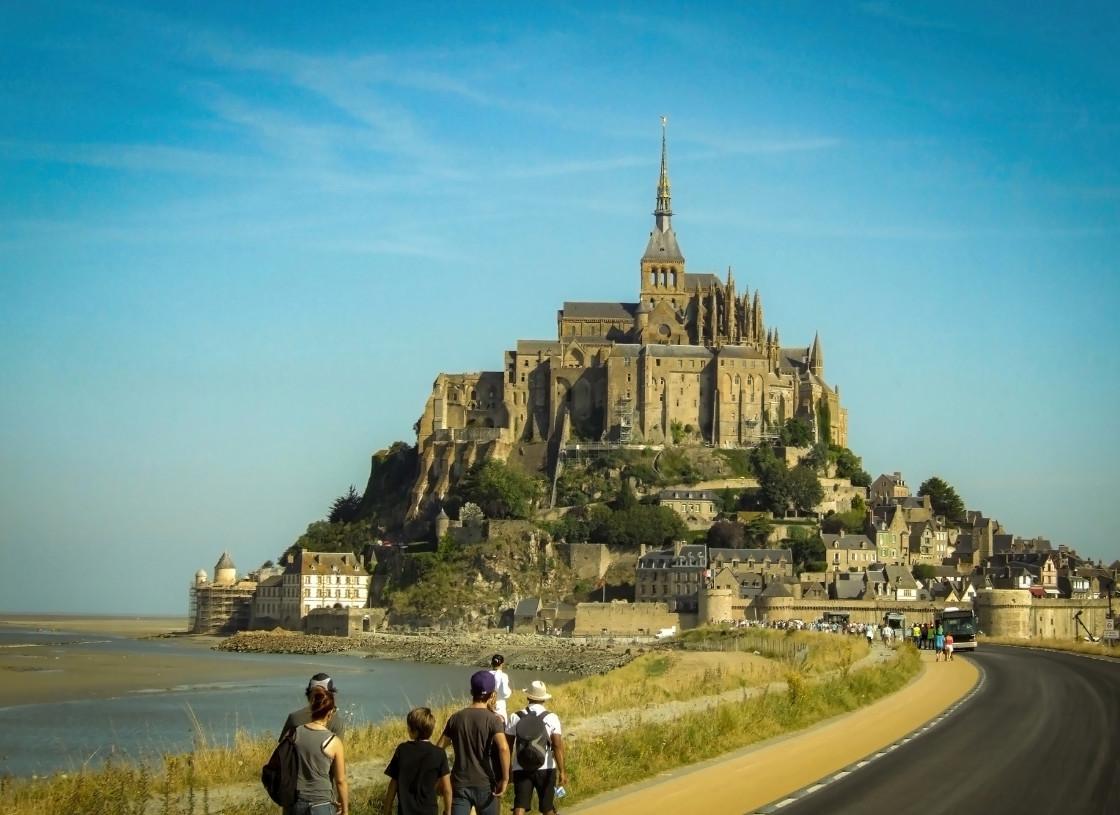 """""""Mont Saint-Michel"""" stock image"""