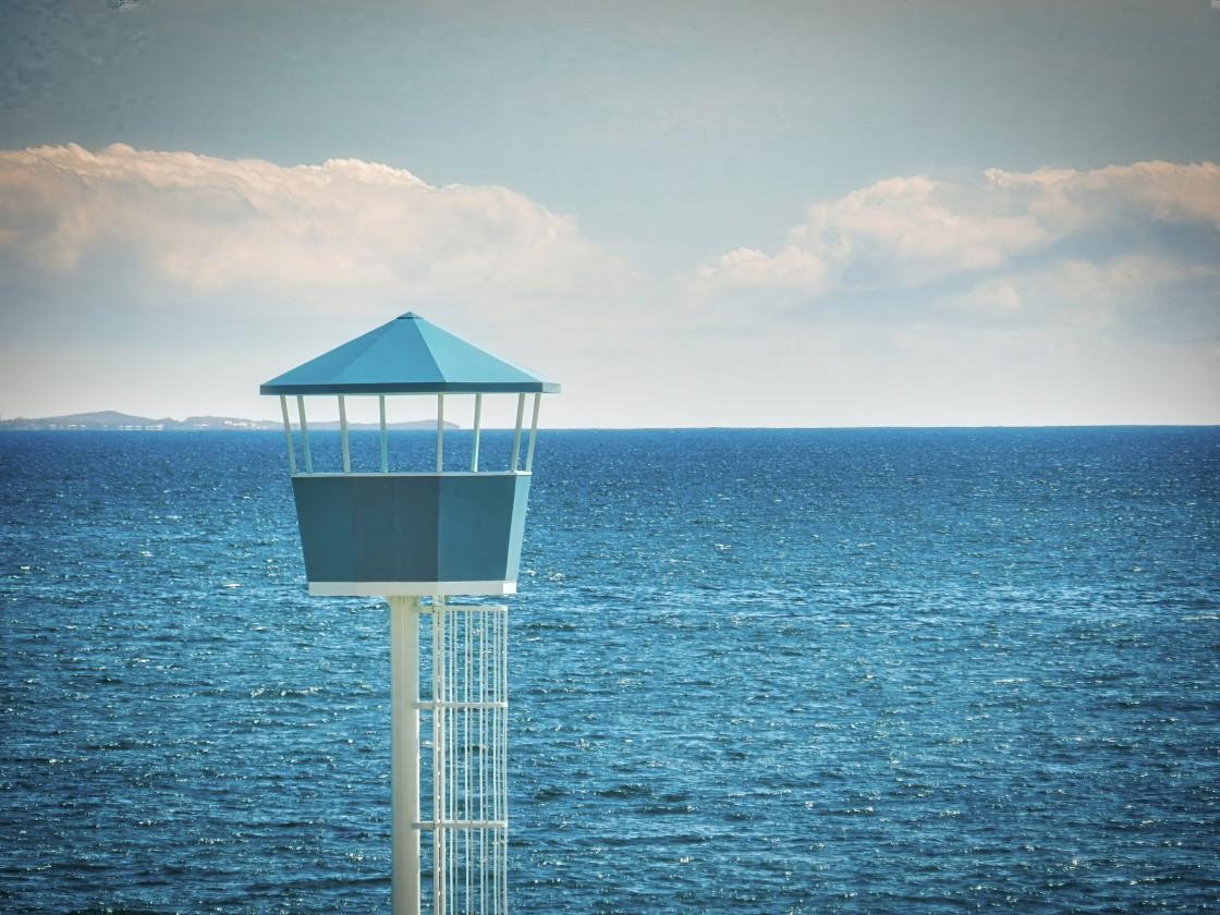 """""""Lifeguard Tower, City Beach"""" stock image"""