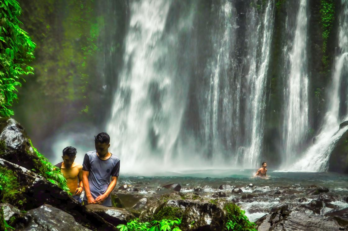 """""""Sendang Gile Waterfall"""" stock image"""