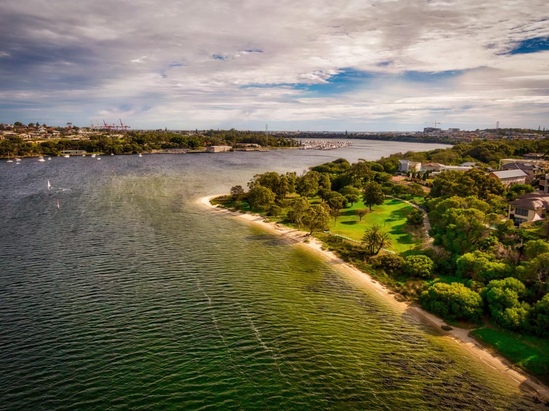 """""""Swan River Aerial"""" stock image"""
