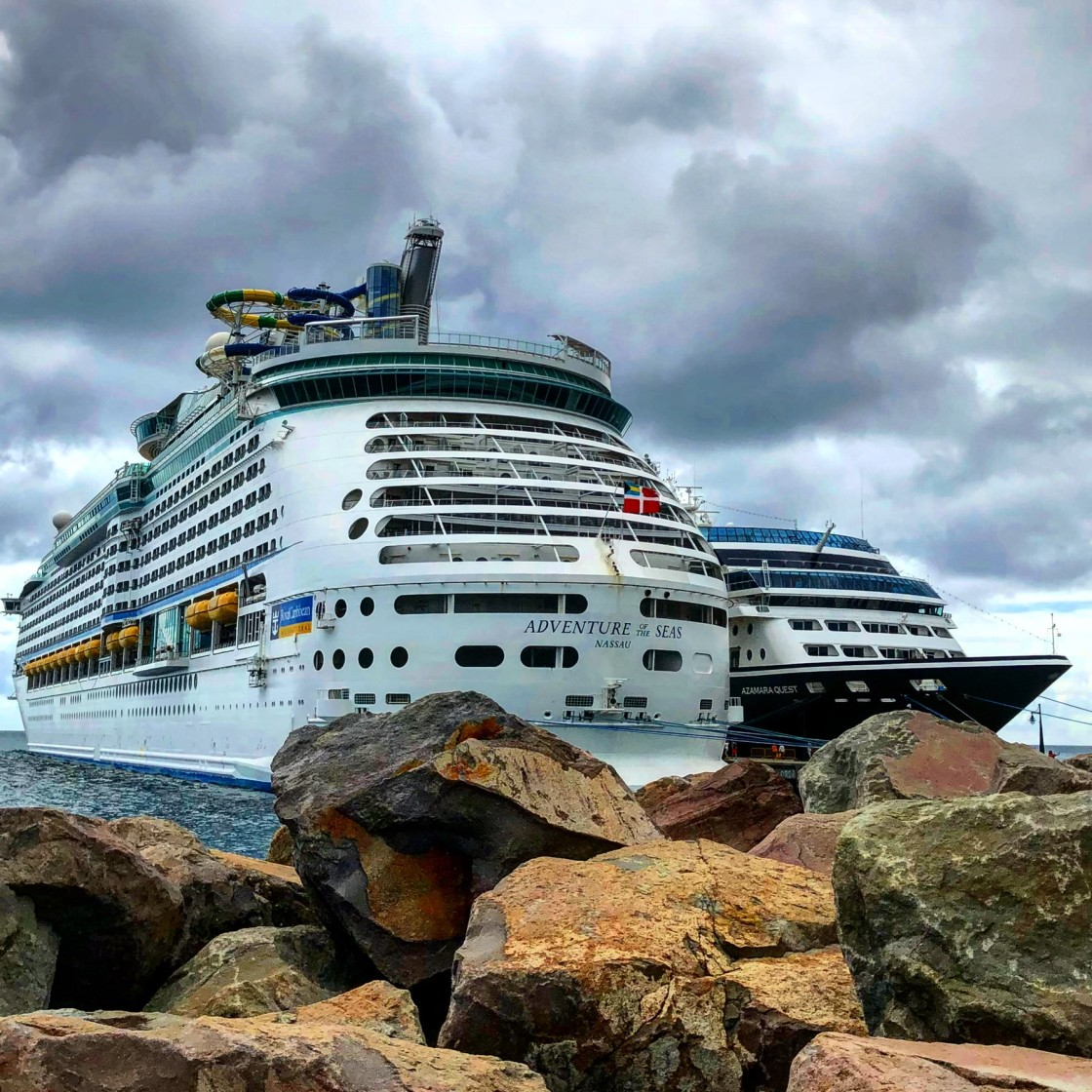 """Azamara and Royal Caribbean"" stock image"
