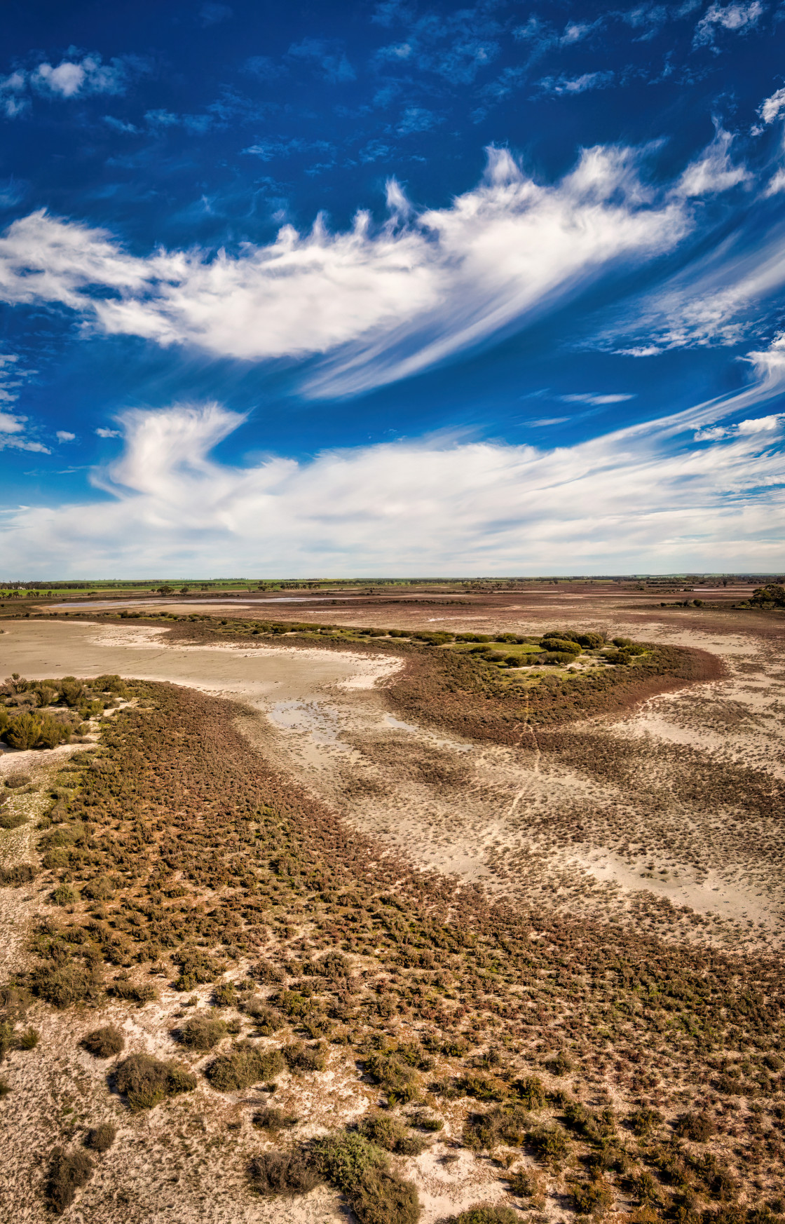"""""""Over the Dry Lakes"""" stock image"""