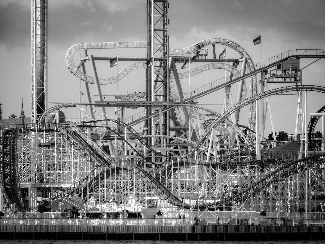 """""""Stockholm Amusement Park 2"""" stock image"""