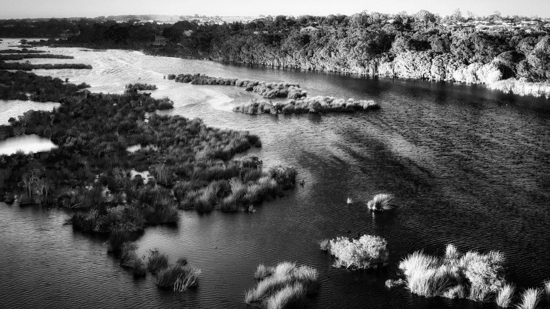 """Wetland Lake"" stock image"