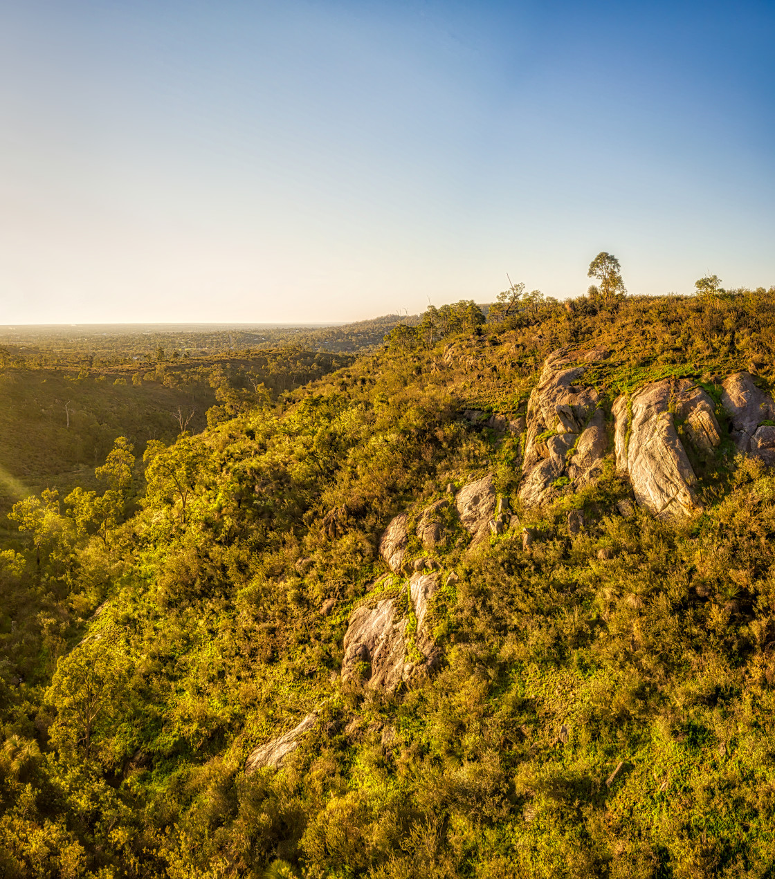 """""""Rock Formation, Perth Hills"""" stock image"""