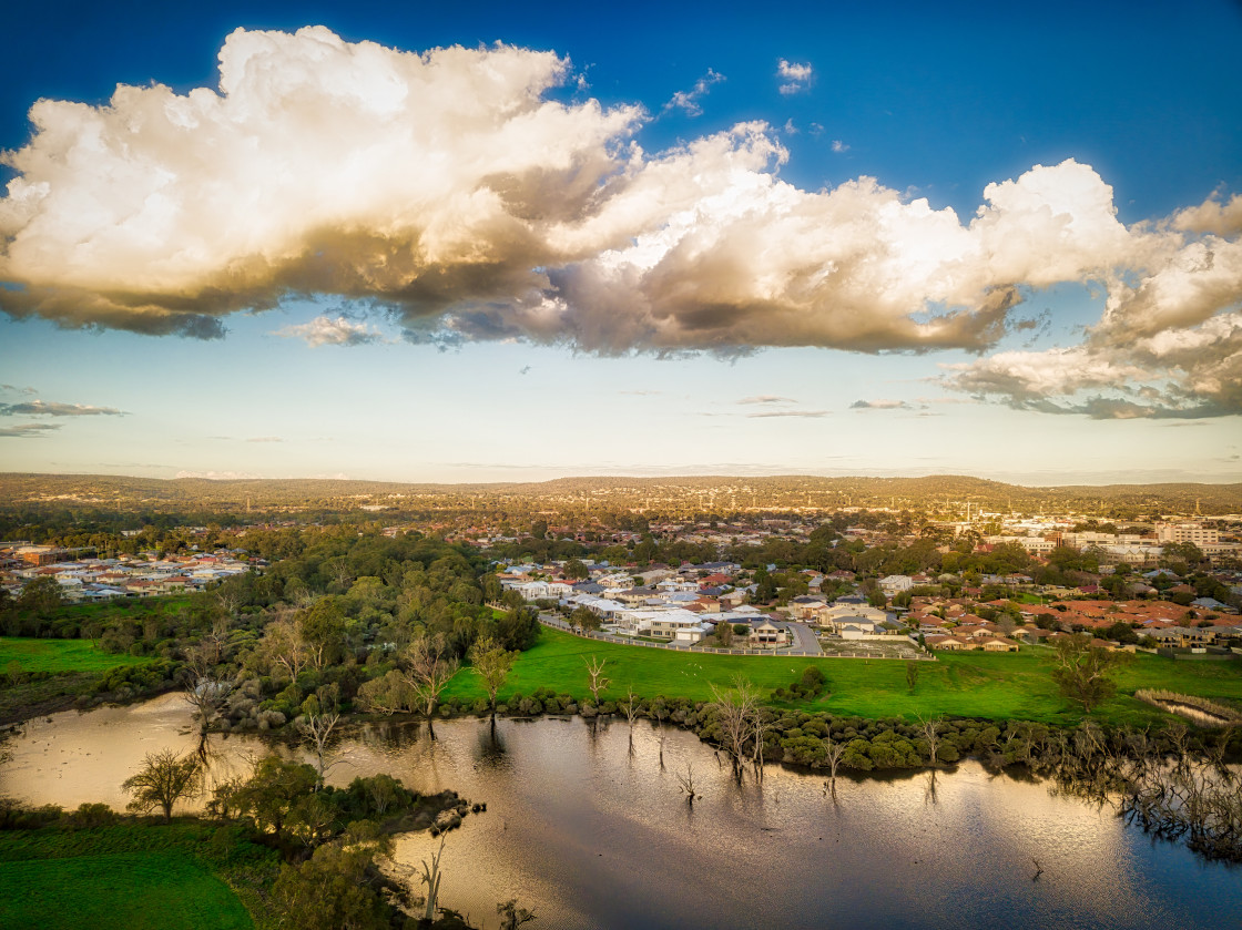"""""""Wetland Aerial View"""" stock image"""