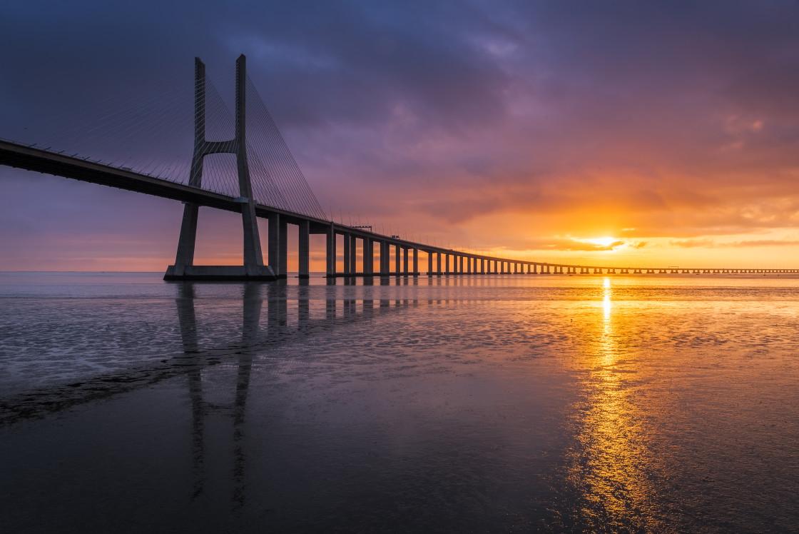 """Long bridge to the sun"" stock image"