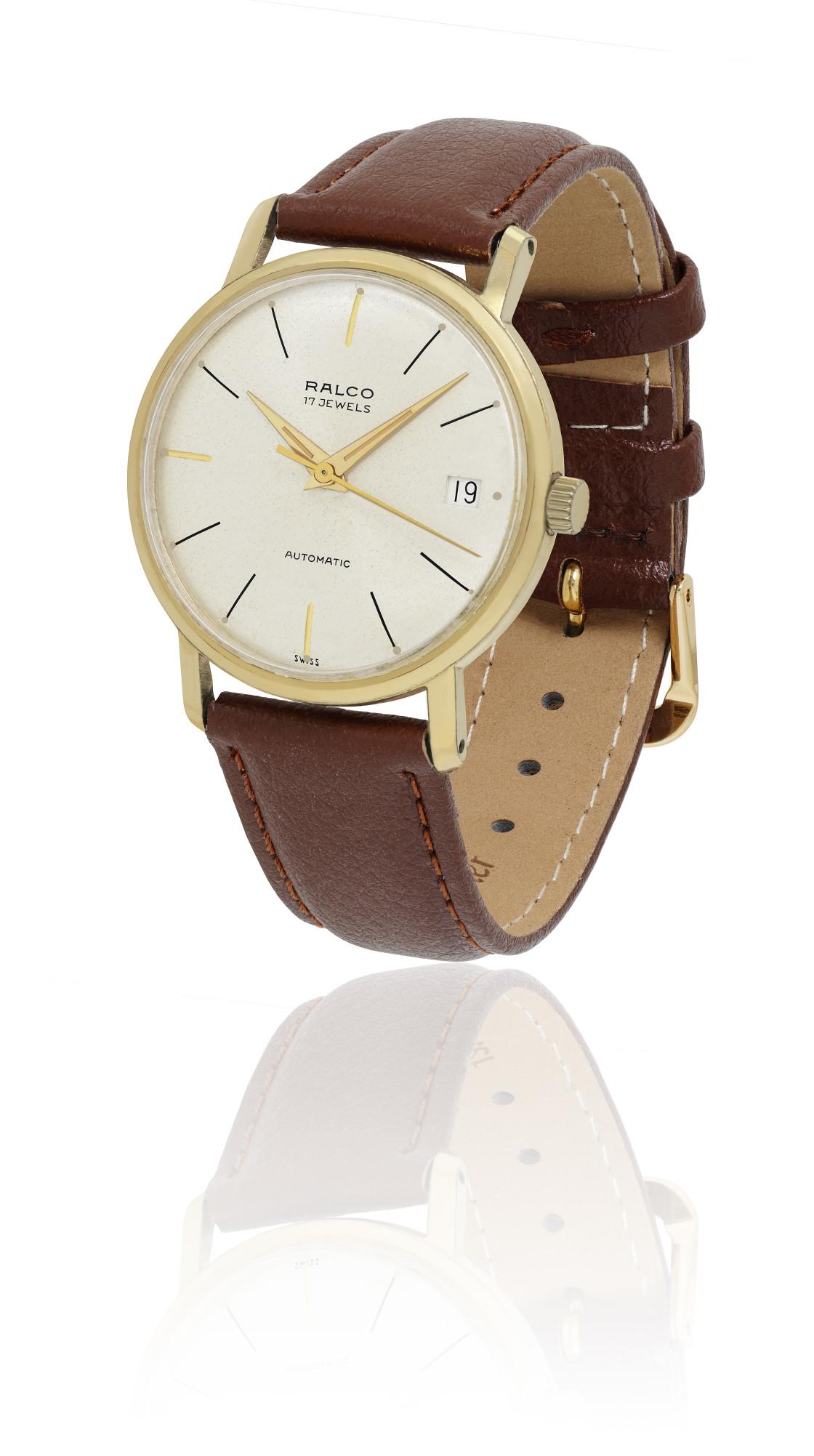 """1950s Ralco automatic Swiss watch"" stock image"