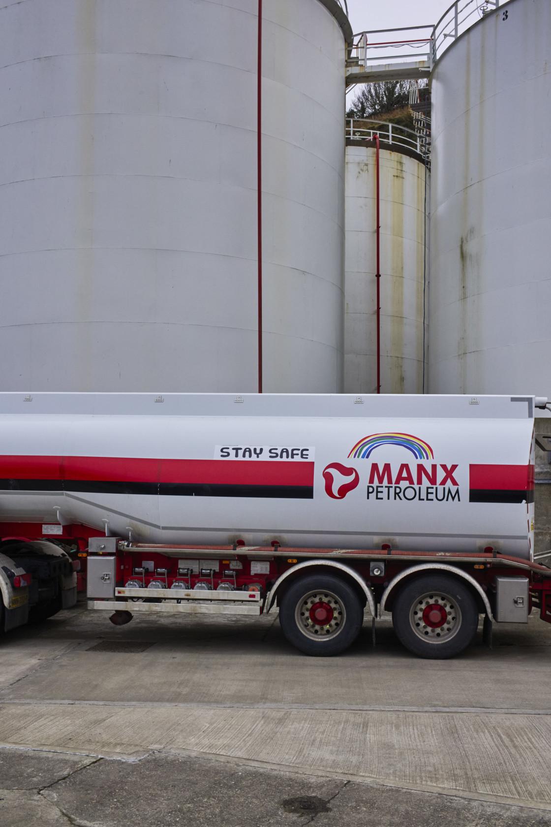 """Manx petroleum delivery vehicle"" stock image"