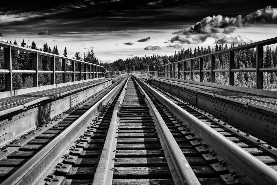 """Train bridge"" stock image"