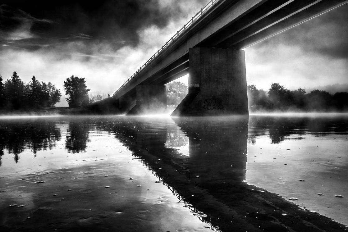 """Bridge + Fog"" stock image"
