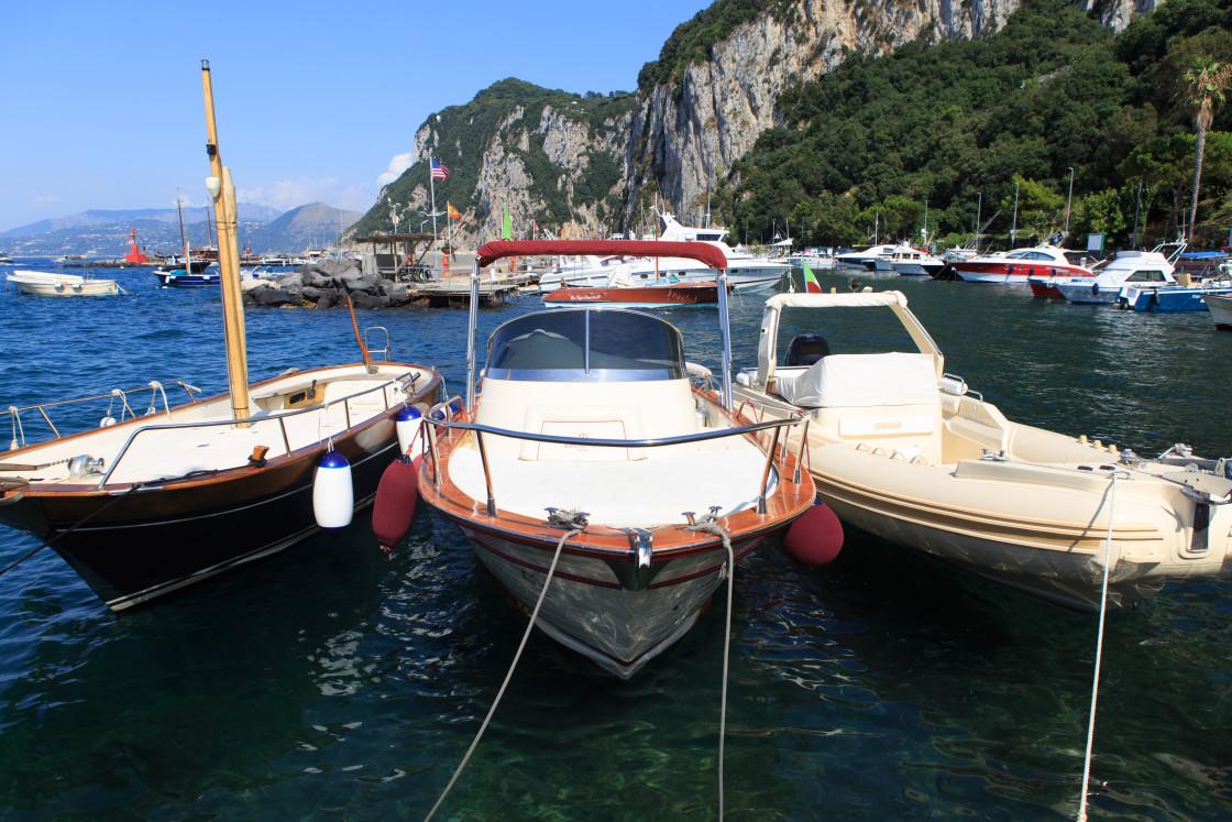 """""""A Trio in Capri"""" stock image"""