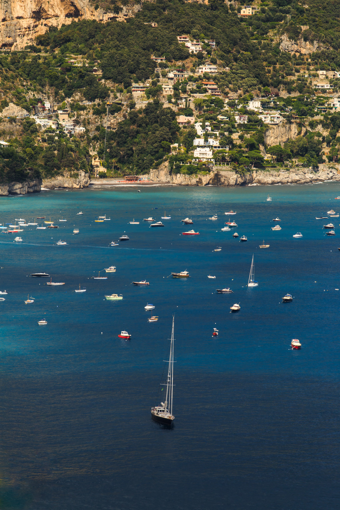 """Boats of Positano"" stock image"