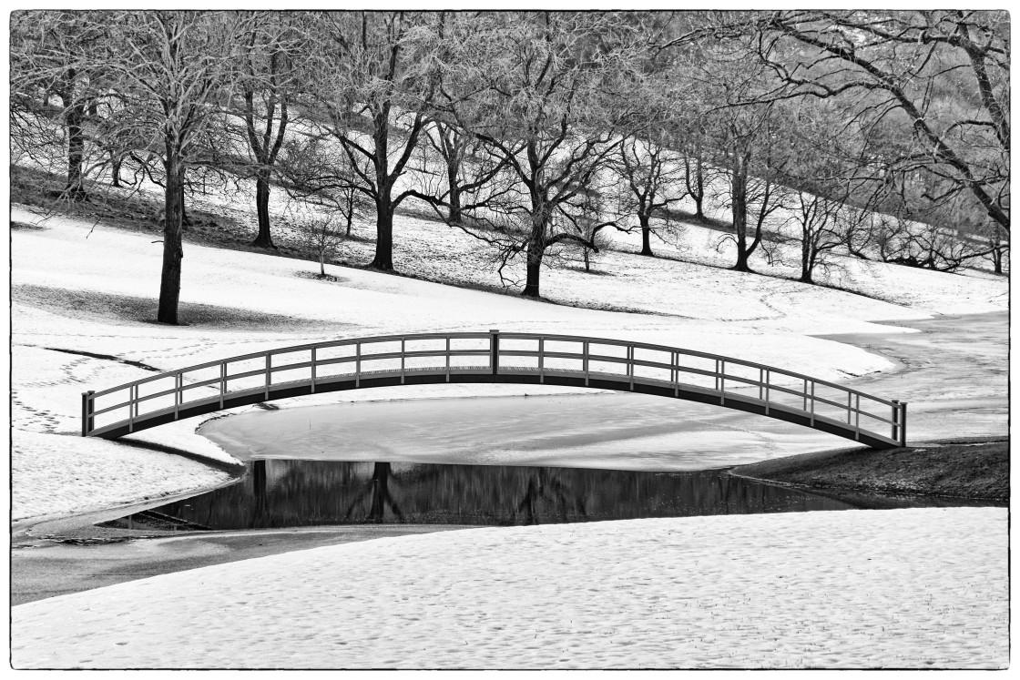 """""""Bridge Over The Ice"""" stock image"""