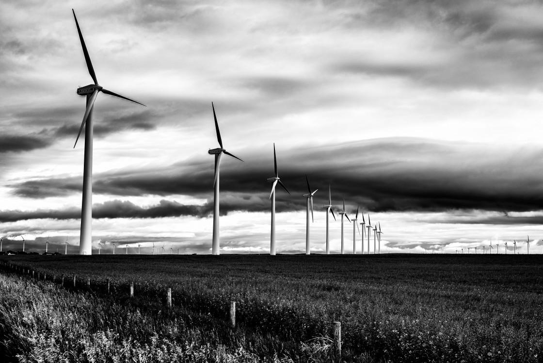"""Southern Alberta windfarm"" stock image"