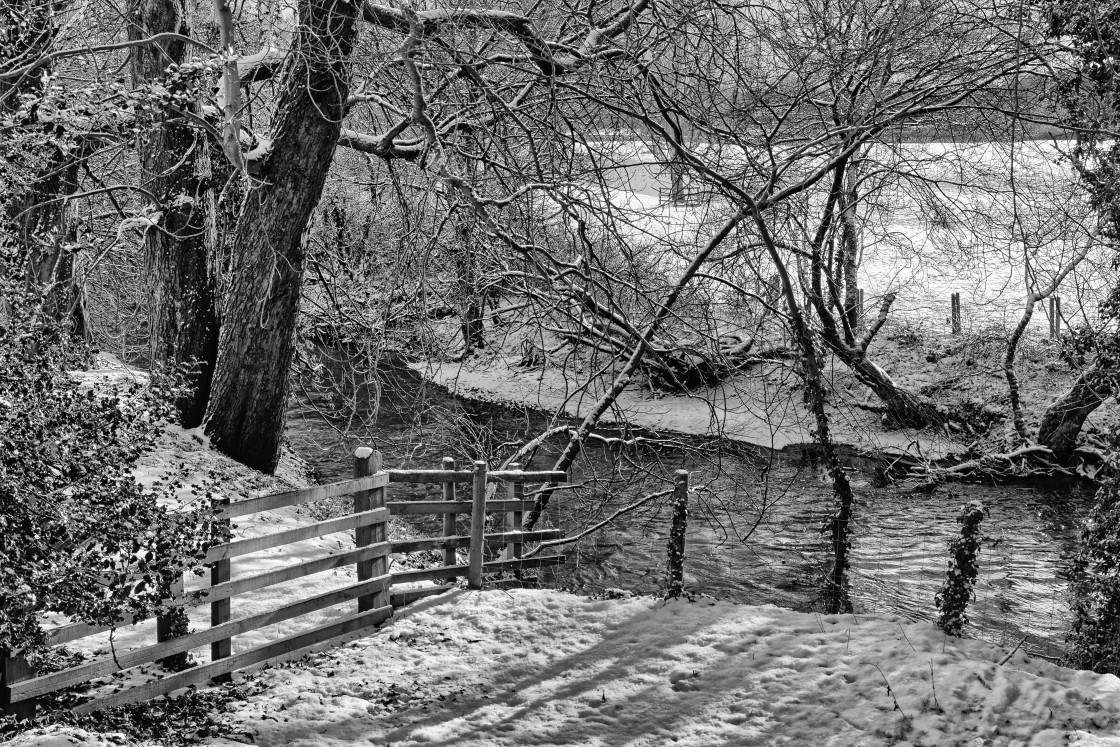 """""""River Rye in Winter"""" stock image"""