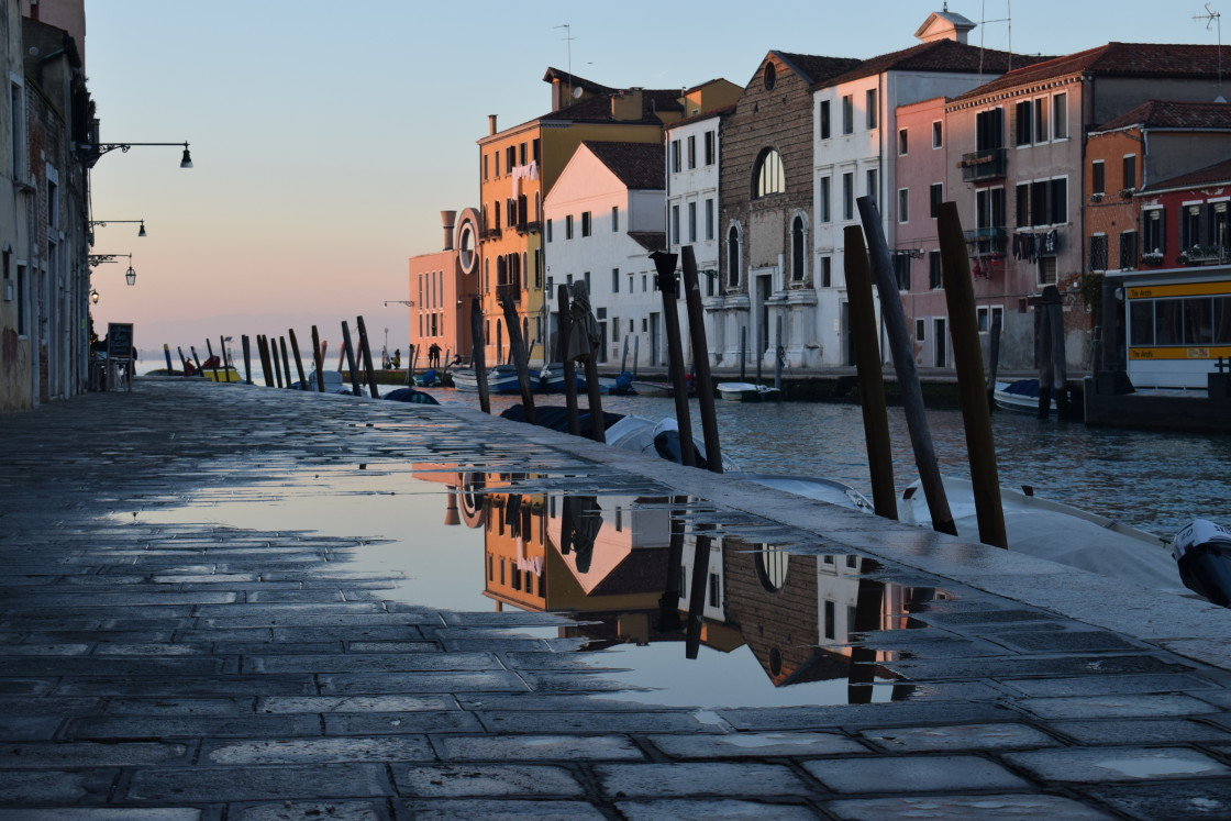 """Reflecting on Venice"" stock image"