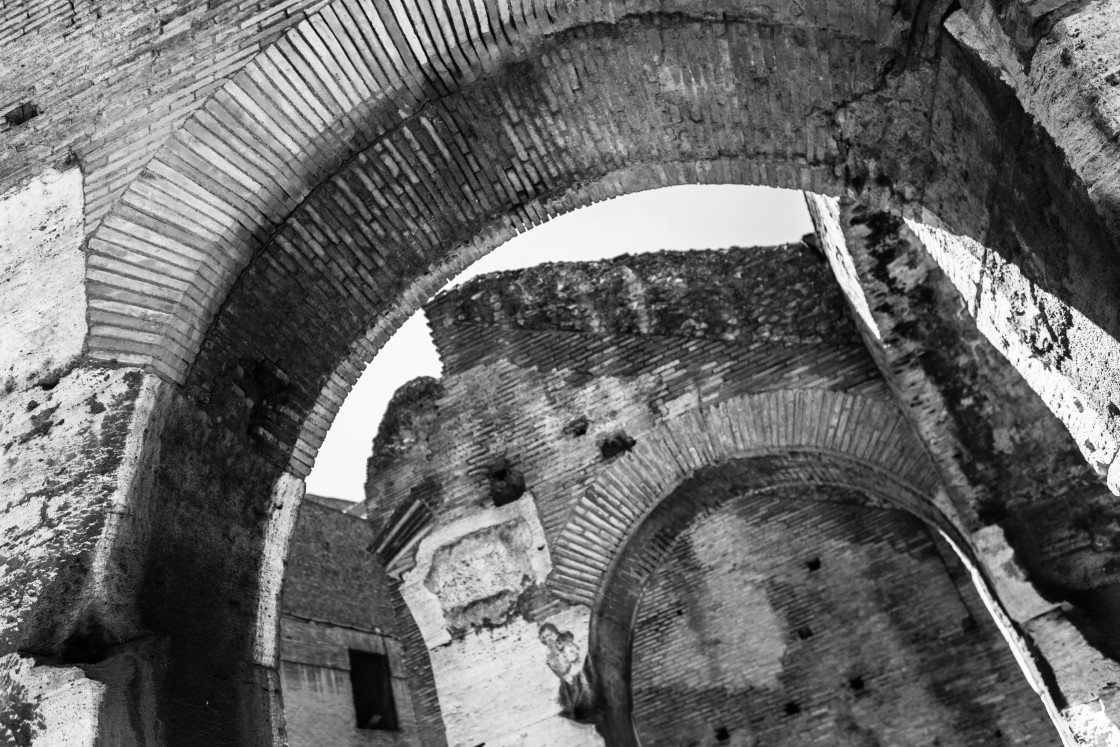 """""""Colosseum Arches"""" stock image"""