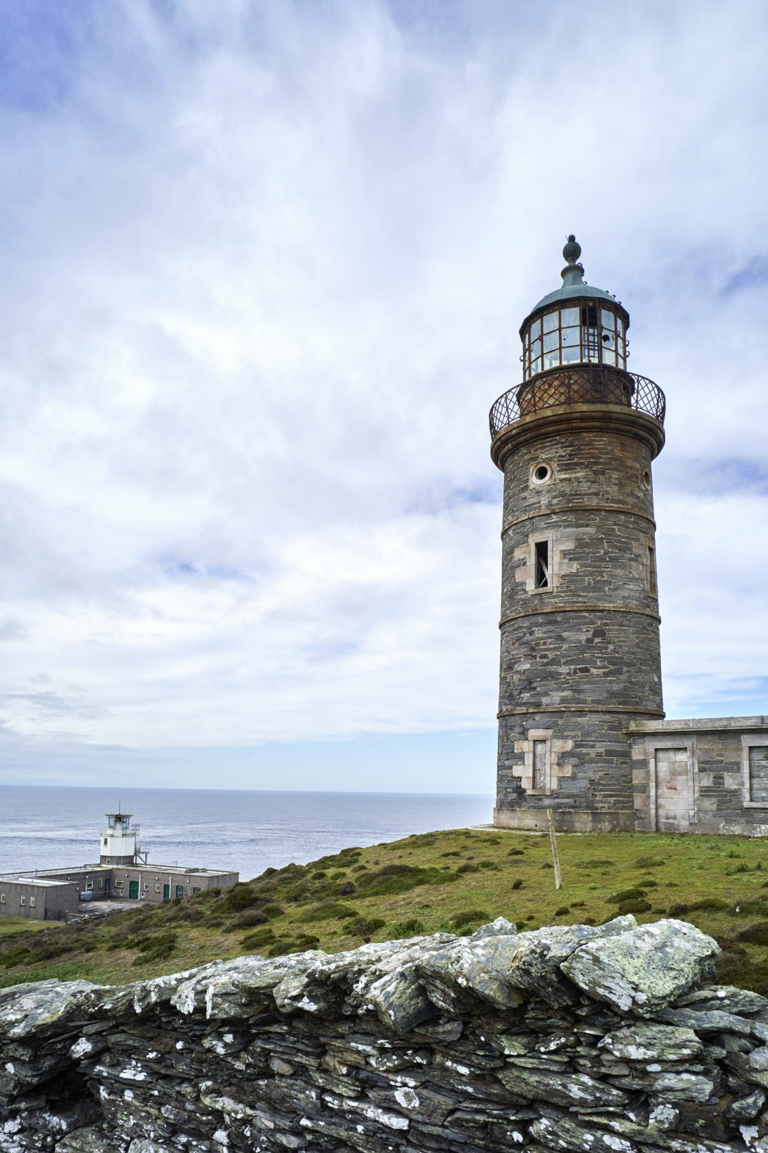 """""""The higher of the original two lighthouses"""" stock image"""