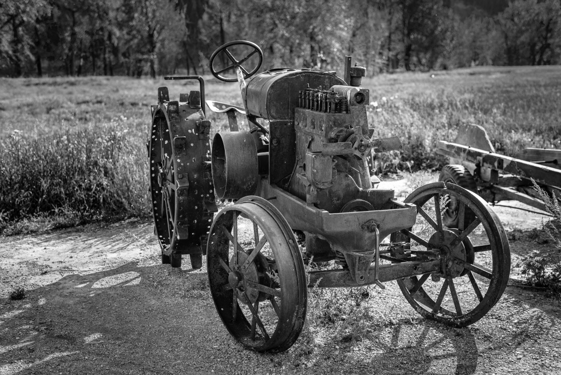 """Metal tractor"" stock image"
