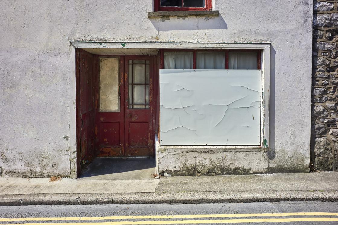 """Malew Street, Castletown, Isle of Man"" stock image"