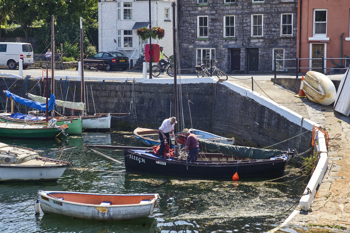 """""""Castletown, Harbour, Isle of Man"""" stock image"""