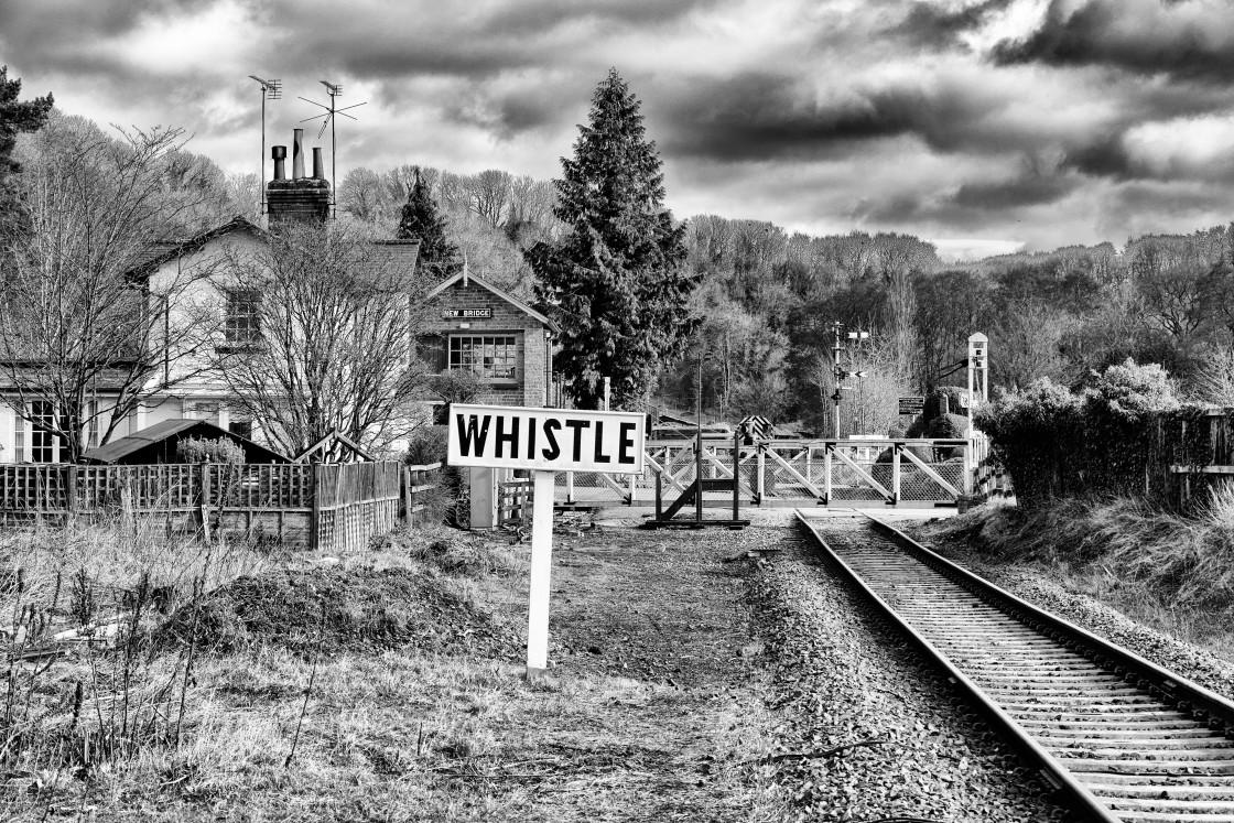 """Whistle on the Railway"" stock image"