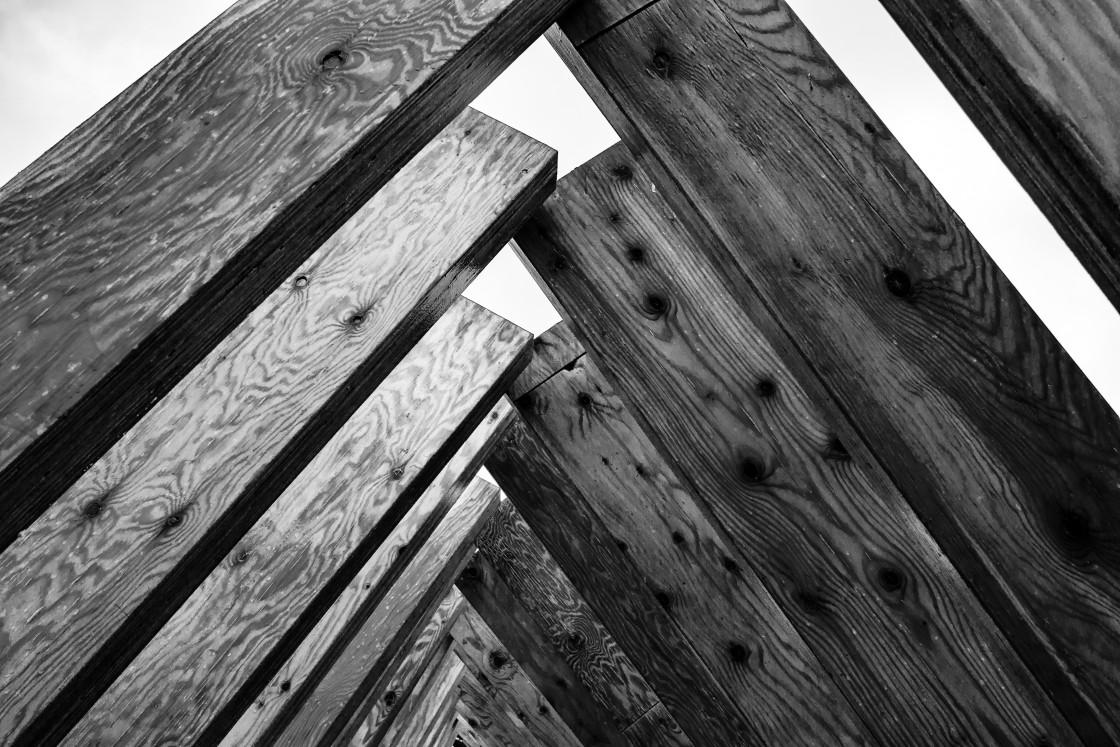 """Wood beams"" stock image"