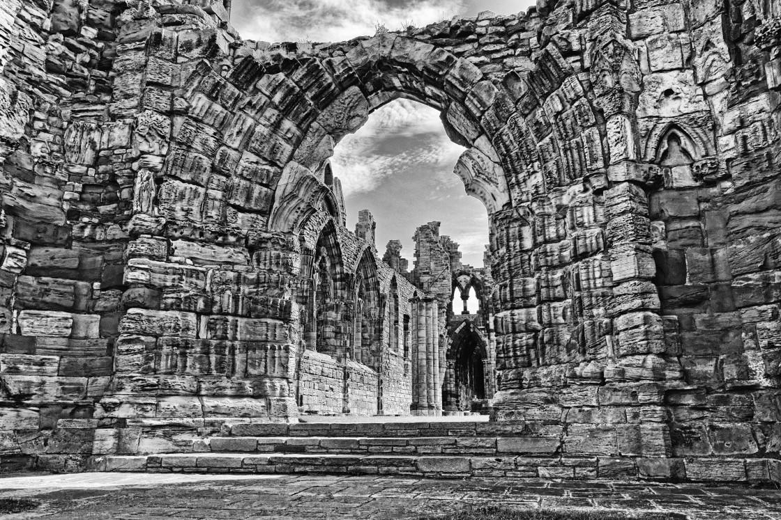 """Whitby Abbey Stone"" stock image"