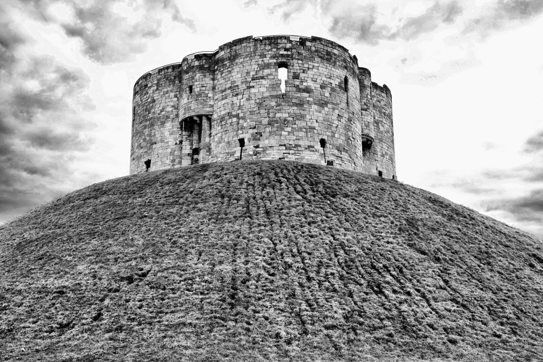 """""""Up to Clifford Tower"""" stock image"""