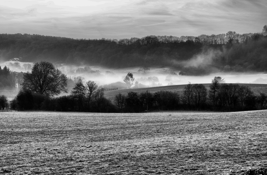 """""""Icy Mist on the Moors"""" stock image"""