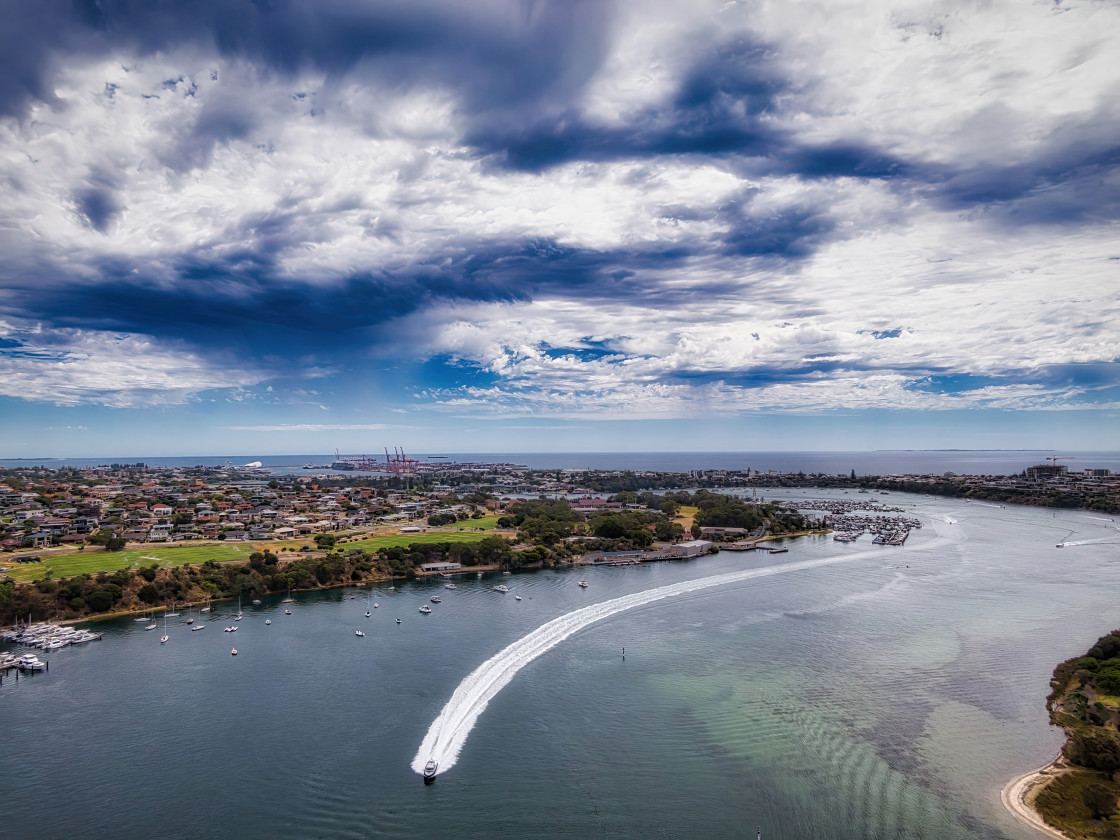 """Swan River Aerial at Biction"" stock image"