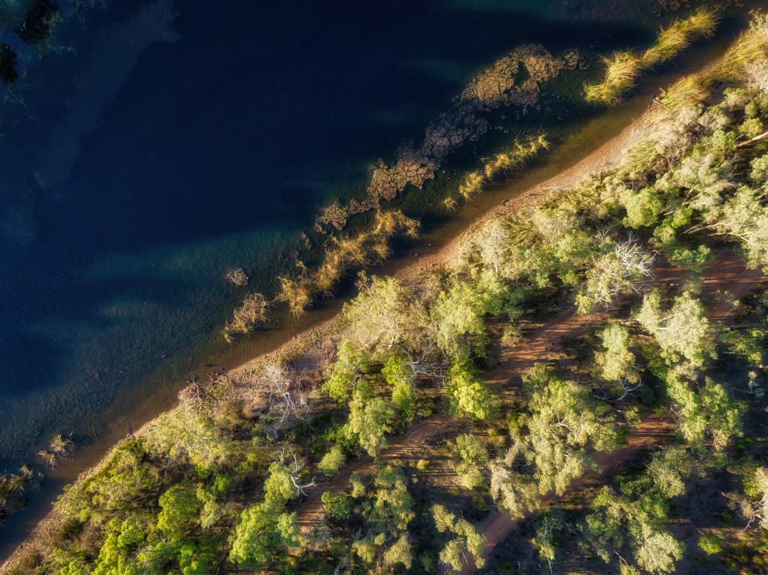 """Lake Leschenaultia"" stock image"