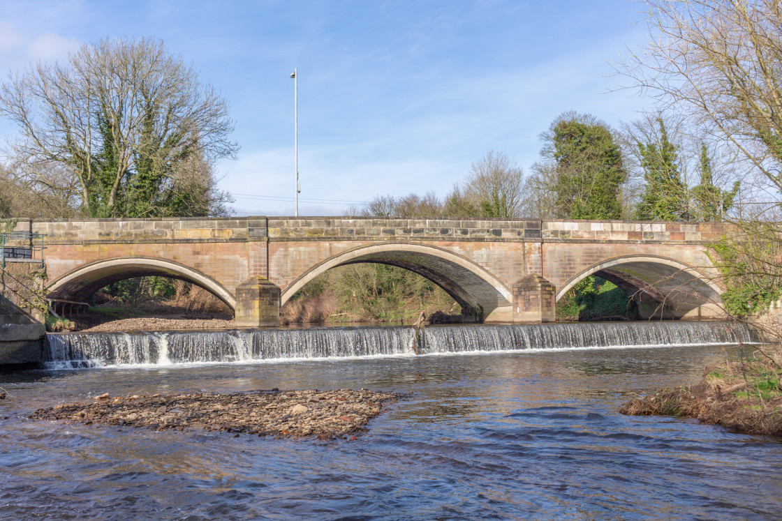 """""""The River Goyt at Stockport Hydro."""" stock image"""