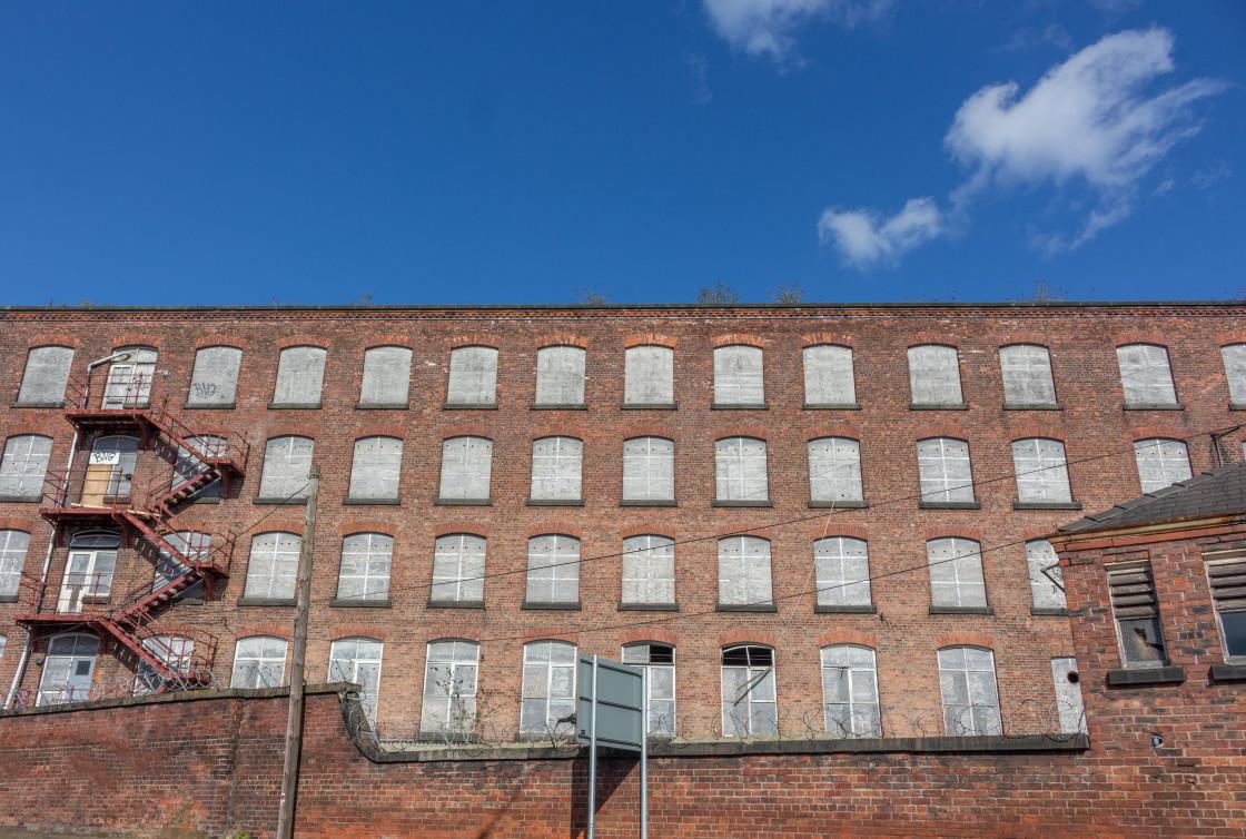 """Weir Mill, Stockport, Cheshire, UK."" stock image"