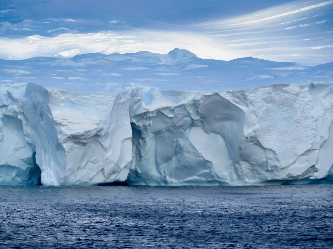 """""""Dugdale Glacier Robertson Bay Antarctica"""" stock image"""