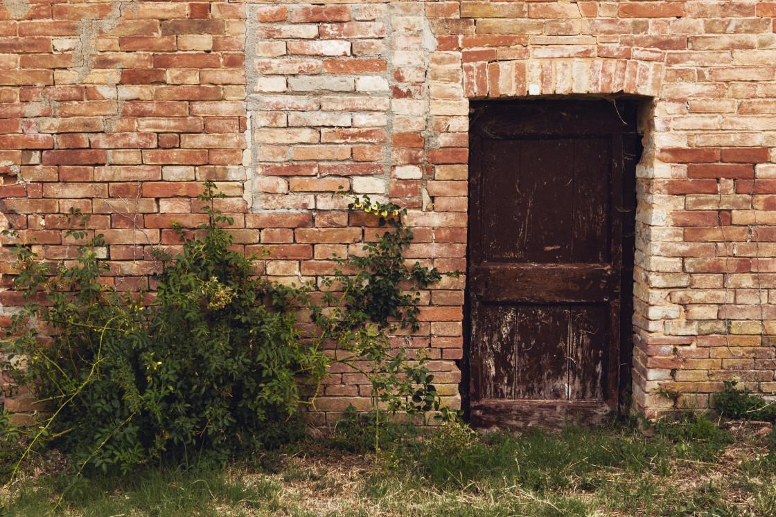 """""""Old Farm Door"""" stock image"""