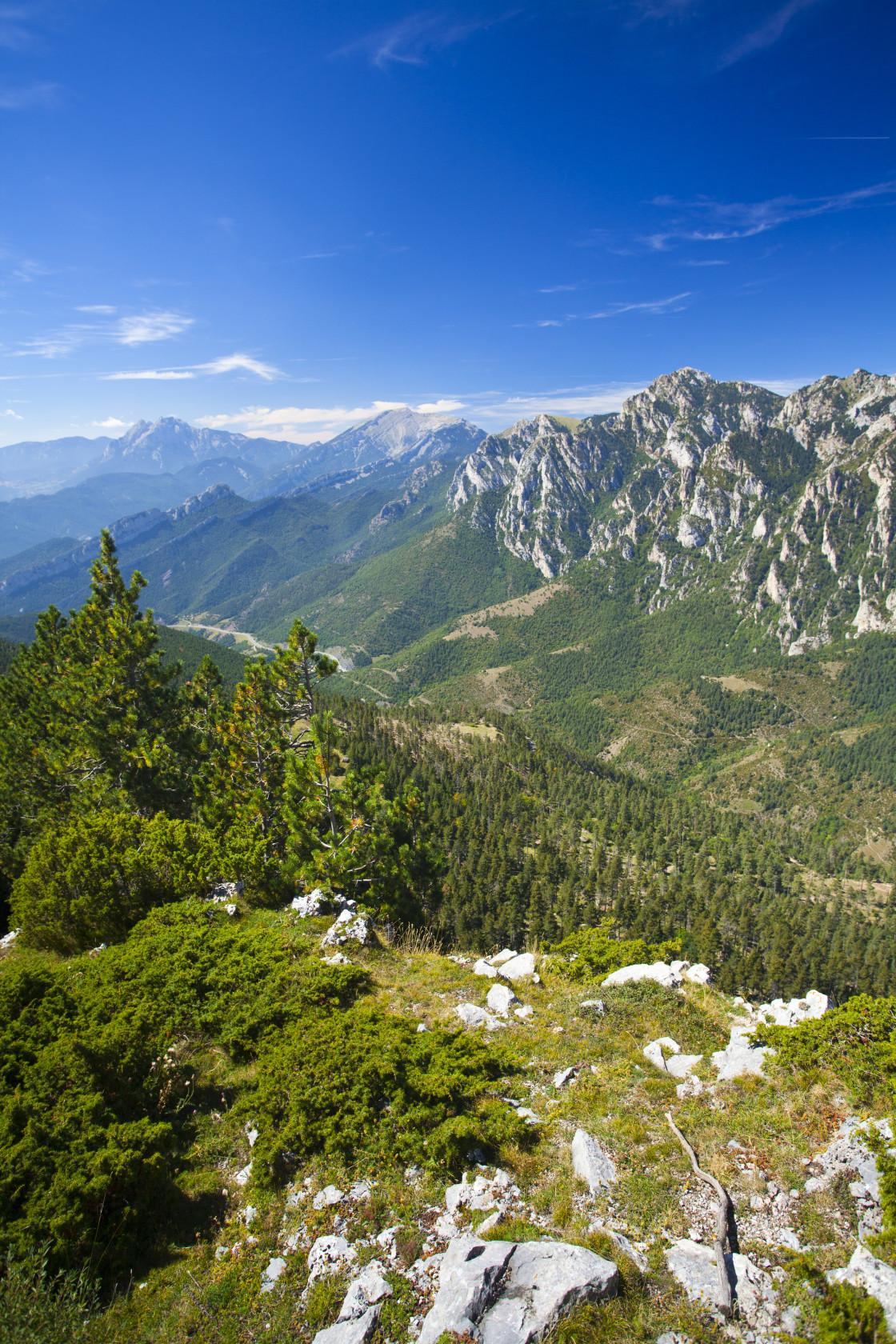 """Spain, Catalonia, Pyrenees, Cadí-Moixeró Natural Park."" stock image"