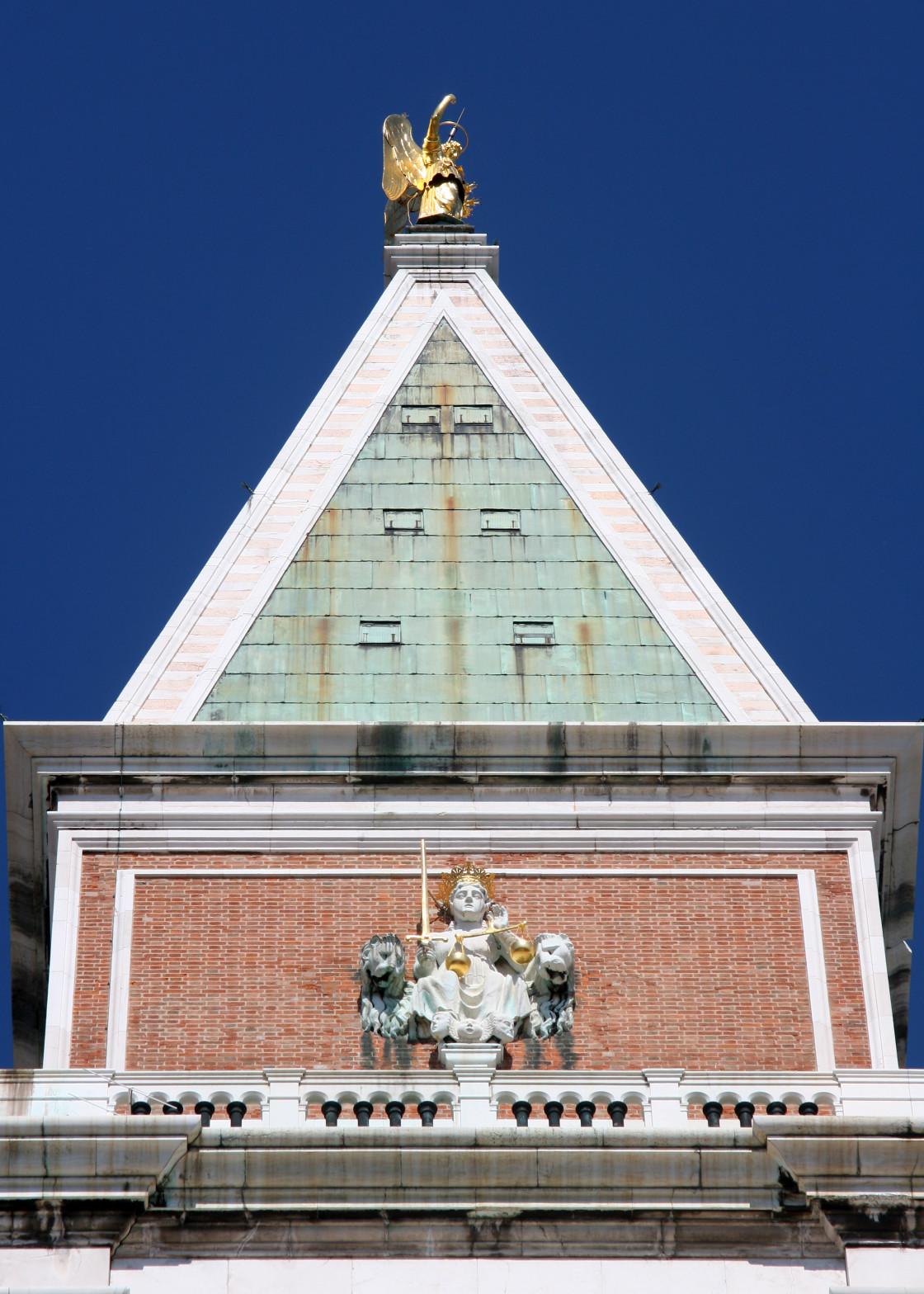 """Campanile, St Mark's Square, Venice, Italy"" stock image"