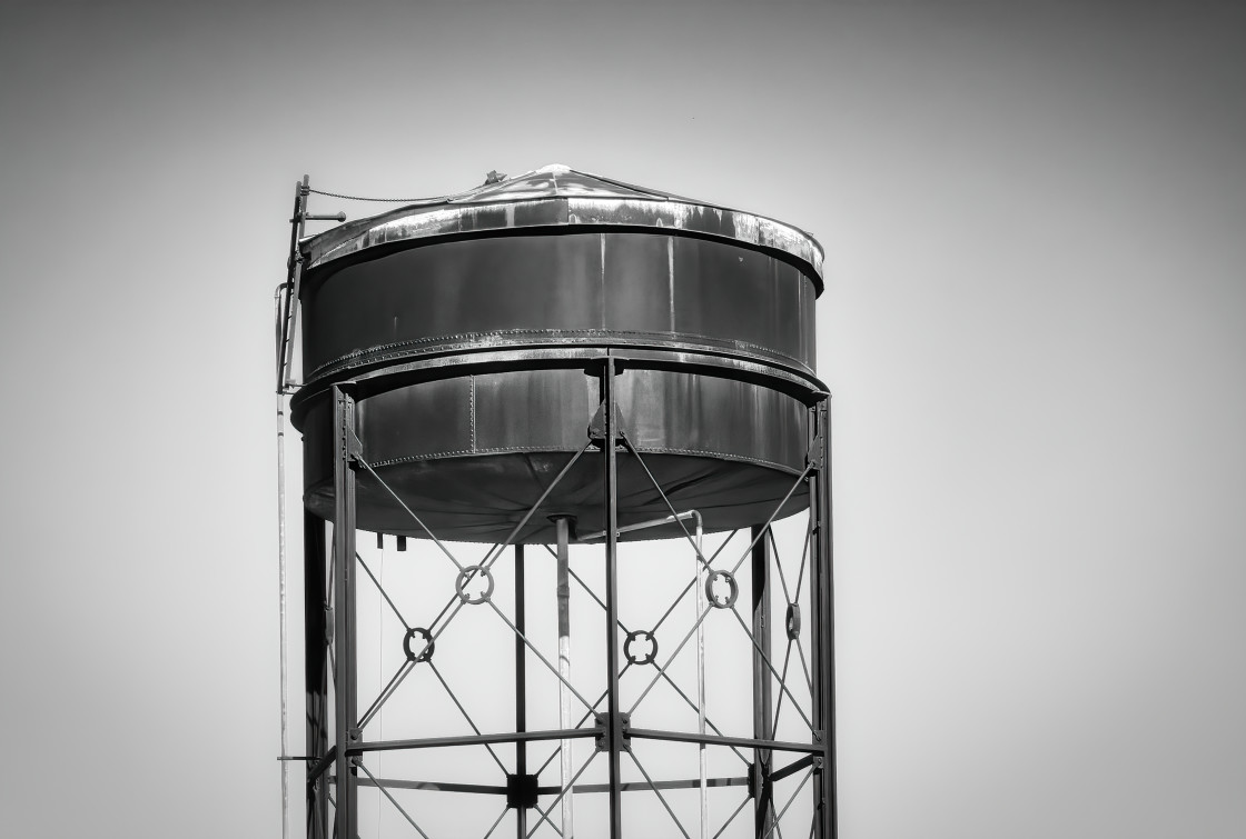 """""""Old Water Tank at Midland Workshops"""" stock image"""