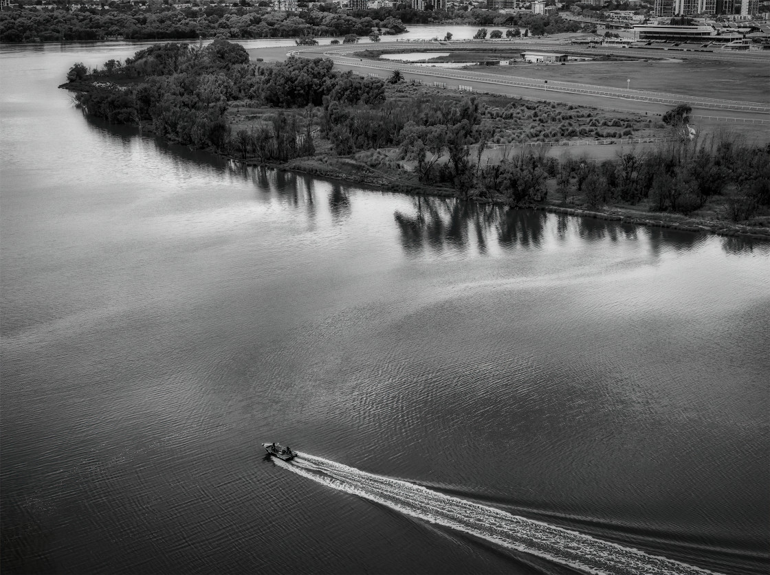 """""""Swan River at Maylands from the Air"""" stock image"""