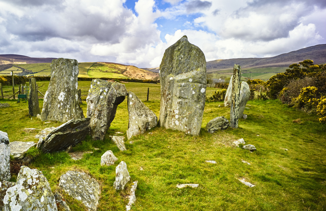 """""""Cashtal yn Ard in Maughold"""" stock image"""