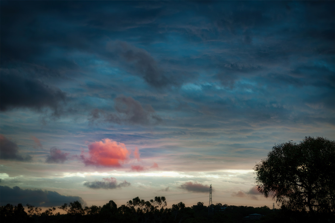 """Lone Pink Cloud"" stock image"