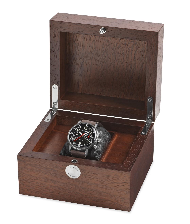 """Günter Dähndel chronograph in box"" stock image"