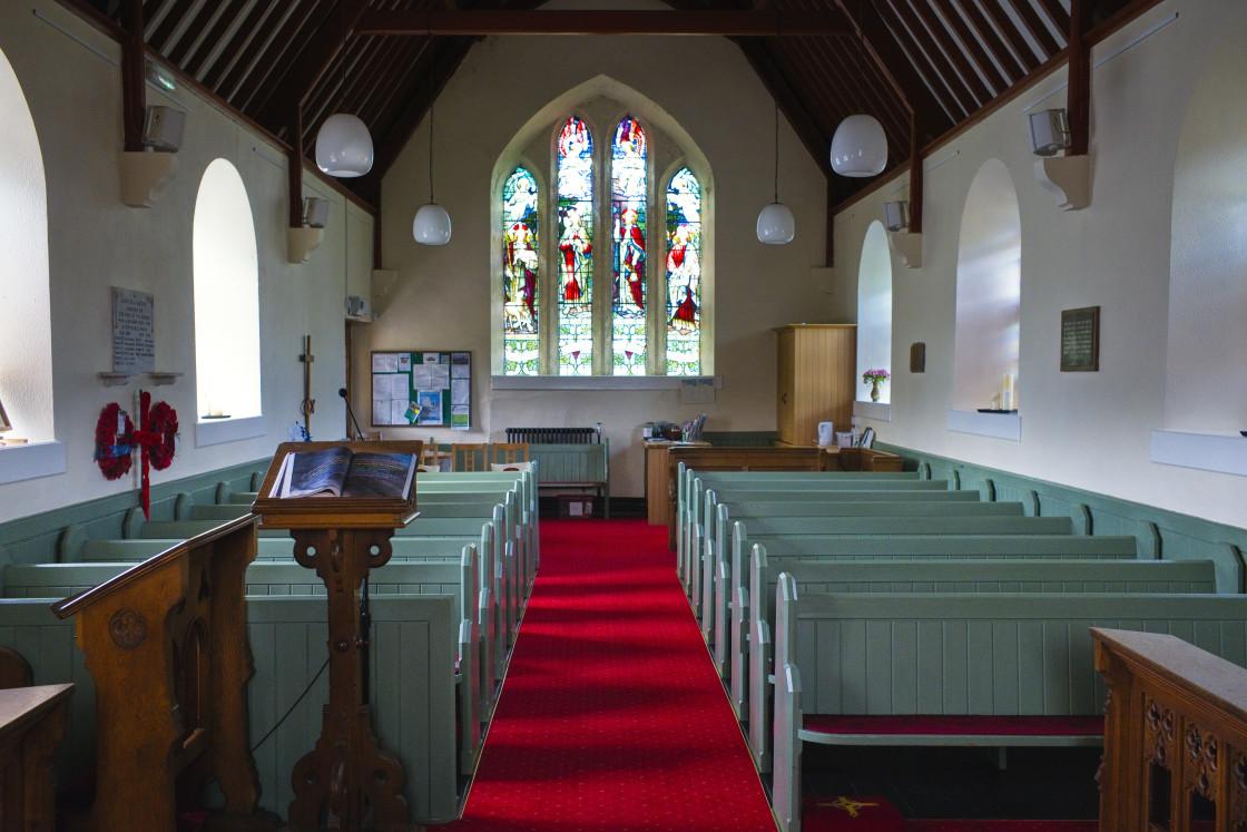 """Interior of Holy Trinity Parish church"" stock image"